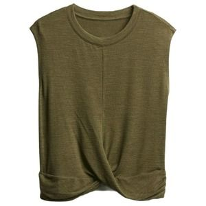Gap Sleeveless Olive Green Tie Knot Top